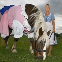 The horses who wear dresses